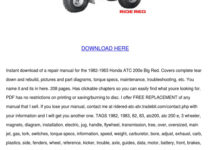 Honda Atc200e Big Red Service Manual Repair 1 By Francisca
