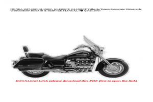 2000 Honda Valkyrie Service Manual Pdf Honda Owners Manual